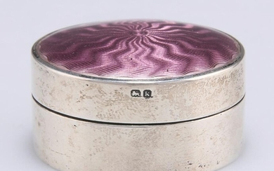 AN EDWARDIAN SILVER AND ENAMEL BOX, by James