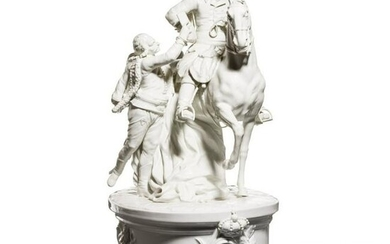 "A porcelain group ""Frederick the Great on horseback"