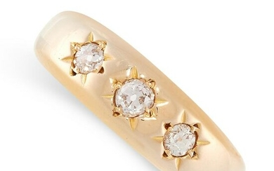 AN ANTIQUE DIAMOND GYPSY RING, 1914 in 18ct yellow