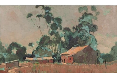 Anthony Strickland (South Africa 1920 - 2000): FARM BUIDLING...