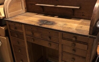 Early 1900's Watch Makers Cabinet Desk