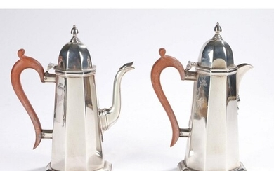 Elizabeth II silver coffee pot and hot water jug, Sheffield ...