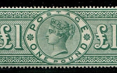 Great Britain 1891 - £1 green Victoria - Stanley Gibbons SG212