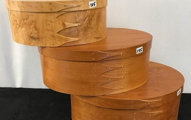 Group of 3 Orleans Carpenters Hand Made Shaker Boxes