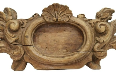 ITALIAN CARVED WOOD ARCHITECTURAL ELEMENT
