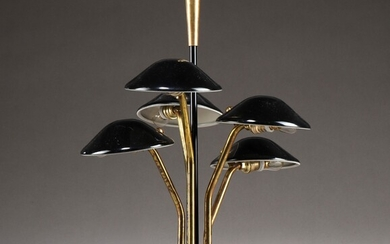 Italian table lamp from the 60s made in brass and marble