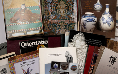 Large collection of Asian art magazines and publications including Orientations,...