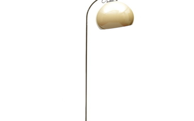 Metal floor-lamp with plastic shade, design & execution unknown ca....