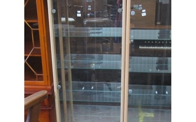 Modern Double Door Glass Display Cabinet.