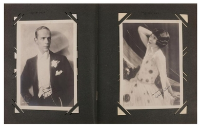 Photograph Album.- Incl. Fred and Adele Astaire