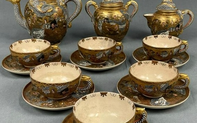 Satsuma Japan porcelain tea service.