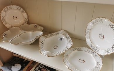 Set of Five Antique Royal Worcester Scottish Lord Inverclyde...