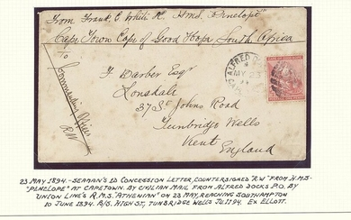 "South African Maritime Mail from 1677 The ""Joachim"" Collection Royal Mail Steamers 1894 (23 May..."