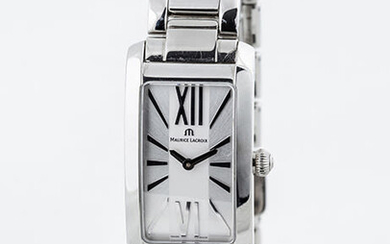 Swiss watch mrs. MAURICE LACROIX in rectangular case and...