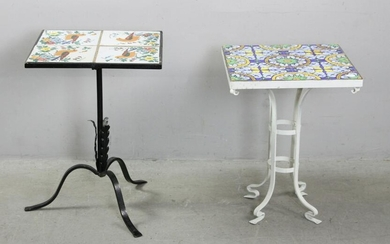 Wrought Iron Tile Top Tables