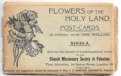 12 Illustrated Postcards Set - Flowers of the Holy Land
