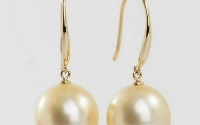 14 kt. Yellow Gold - 11x12m Golden South Sea Pearls
