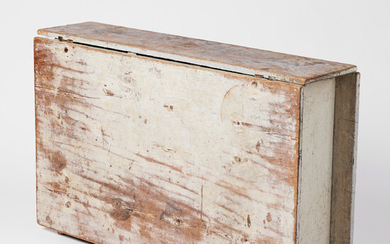 1903483. PATCH TABLE, Gustavian, late 18th / early 1800s, pine, original color in pearl gray.