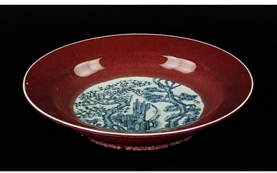 A Chinese Blue and White Porcelain Low Bowl.