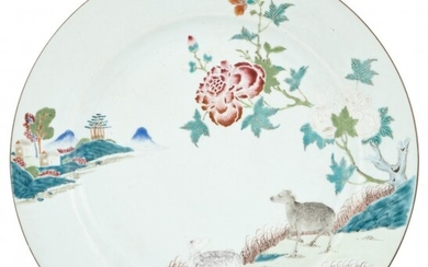 A Chinese Export Famille Rose Porcelain Charger