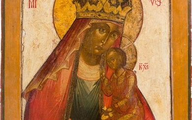 A LARGE ICON SHOWING THE MOTHER OF GOD 'OF...