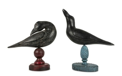 A Pair of Folk Art Crows by Dallas J. Valley