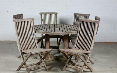 A Smith & Hawken suite of outdoor furniture