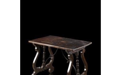 A carved wooden table (cm 66,54,5x42,5) (defects)Read more