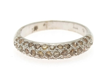 NOT SOLD. A diamond ring set with numerous brilliant-cut brownish diamonds totalling app. 0.77 ct.,...