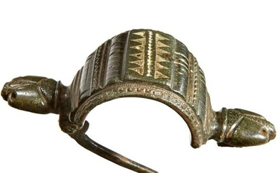 A large Roman bow brooch, 2nd century