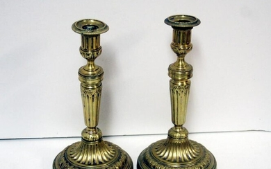 A late 18th century pair of silvered brass French