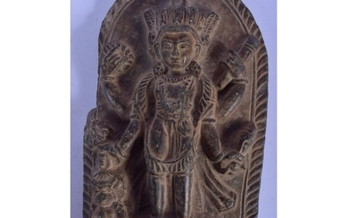 AN EARLY MIDDLE EASTERN SOUTH EAST ASIAN CARVED STONE FRAGME...