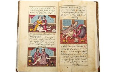 AN ILLUSTRATED EROTIC MANUSCRIPT: THE BOOK OF ALFIEH AND SHARDUYEH Iran, dated Saturday the end of Rajab 1222 AH (October 1807)