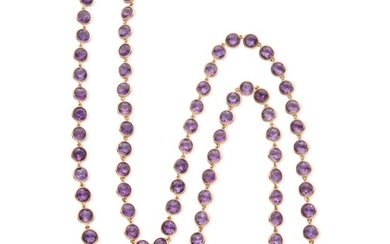 Amethyst and Gold Longchain, France, Van Cleef & Arpels