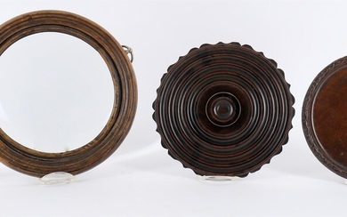 An early George III mahogany and brass strung Lazy Susan
