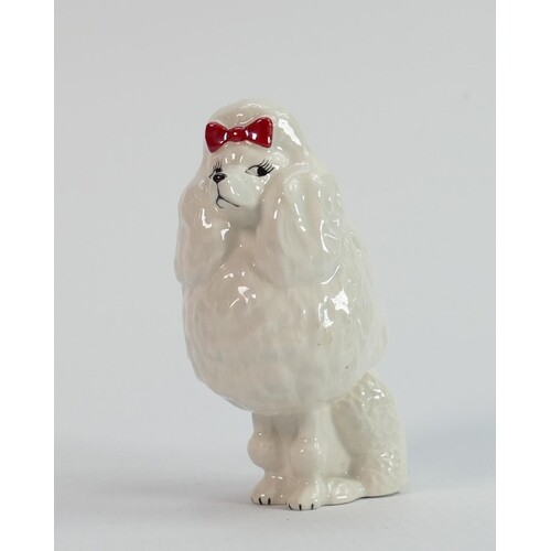 Beswick seated Poodle with bow 1871