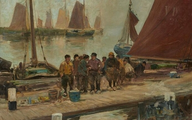 CHARLES PAUL GRUPPE, American 1860-1940, Fishermen at