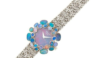 Chopard White Gold and Opal Wristwatch