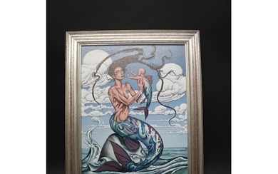 DAVID BROOKE - 'MERMAID'S CHILD' signed and dated 1999, an a...
