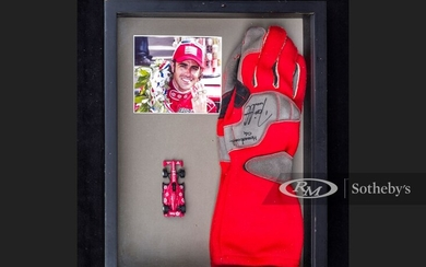 Dario Franchitti Race Worn and Signed Gloves