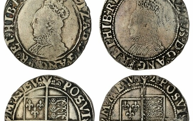 Elizabeth I (1558-1603), Sixth Issue, Shillings, Tower, bust 6b (2), 1595-1598, m.m key; another, 1602, m.m. 2