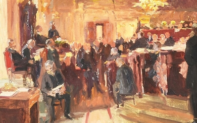English School (early 20th century), The courtroom