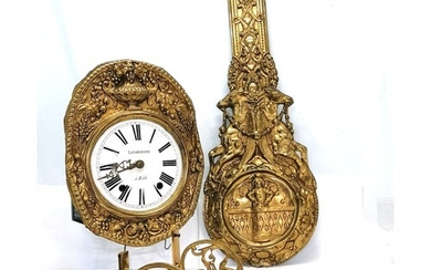 French brass bracket comtoise clock by Lenormand a Bedee wit...