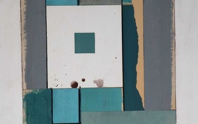 George Holt (British 1924-2005) Four Abstract Works with Square Forms