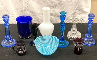 Group of Victorian and Other Art Glass & Crystal
