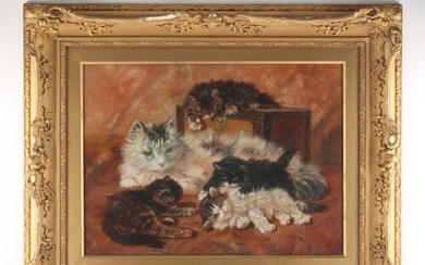 H.F.T. (late 19th / early 20th century) - A CAT AND FOUR KIT...
