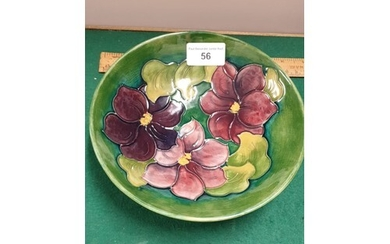 Large Early Moorcroft Bowl Anemone Pattern Bowl With Green B...