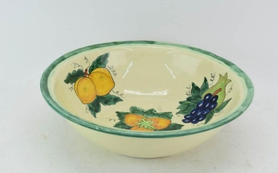 Large Mexican Ceramic Center Bowl