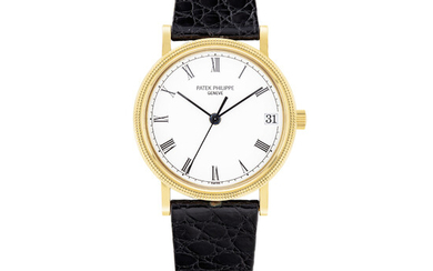 PATEK PHILIPPE, GOLD CALATRAVA WITH DATE, REF.3802/200