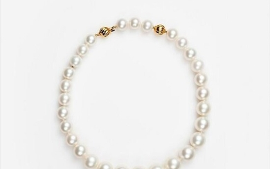 South Sea Cultured Pearl Necklace 12mm-18mm, 18k